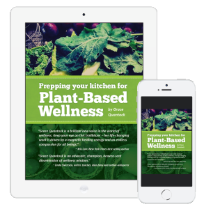 iphone, ipad image of Plant Based Wellness e-guide