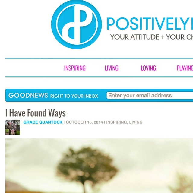 So honoured to be featured on @pospositive today sharing my story of moving into #freedom & #joy while living with #illness & #disability - what's your way to be free? You can read it by going to PositivelyPositive.com front page or directly to PositivelyPositive.com/2014/10/16/I-have-found-ways/