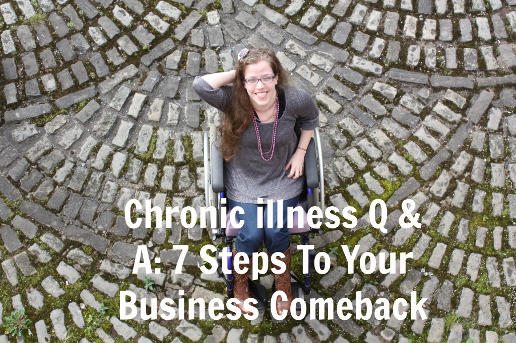 Overhead view of Grace in a wheelchair: Chronic illness Q & A: 7 Steps To Your Business Comeback