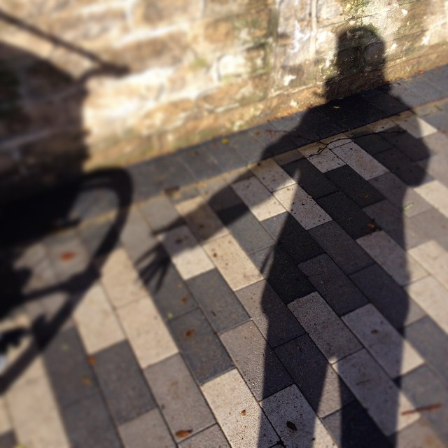 #beyourownbeloved shadow portrait. Finally in between the #snow & showers, sunshine appeared #winter #trailblazingwellness #healingjourney #gratitude