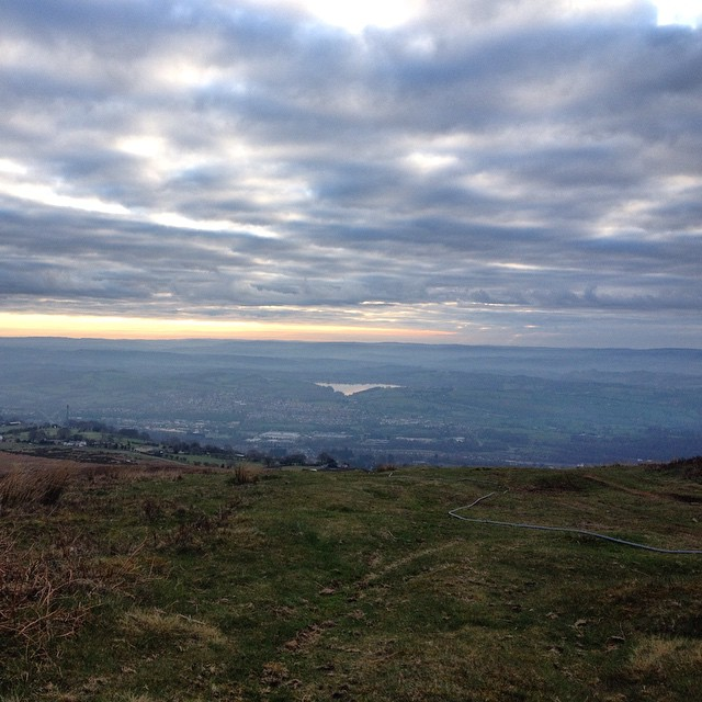 Celebrating our 7 year wedding anniversary by watching the sunrise from a mountaintop near our home. #love #gratitude #hearts #wales #mountain #sunrise #adventures #manymore #celebrate