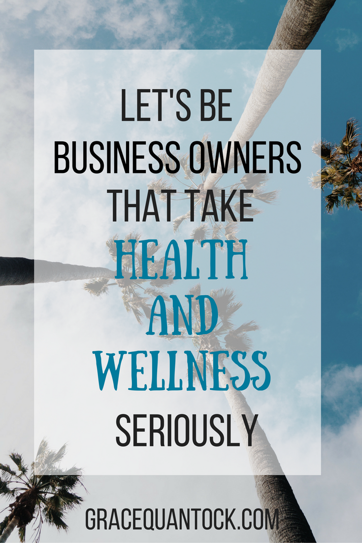 image of palm trees against the sky text: let's be business owners that take health and wellness seriously gracequantock.com