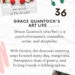 The Art Life graphic with photograph of Grace in her wheelchair